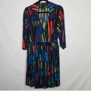 Lane Bryant Colorful Wrap Dress 18 / 20